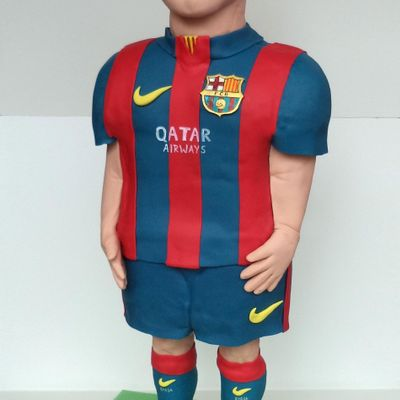 3 D Cake Sculpture Lionel Messi From Fc Barcelona!