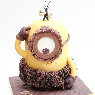 Cro Minion 3D Sculpted Cake