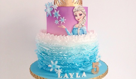 Outstanding Elsa Cake Decorating Photos Funny Birthday Cards Online Unhofree Goldxyz