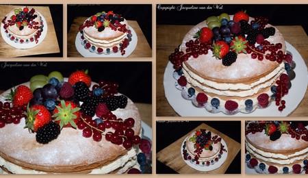 Semi Naked Wedding Cake - CakeCentral.com