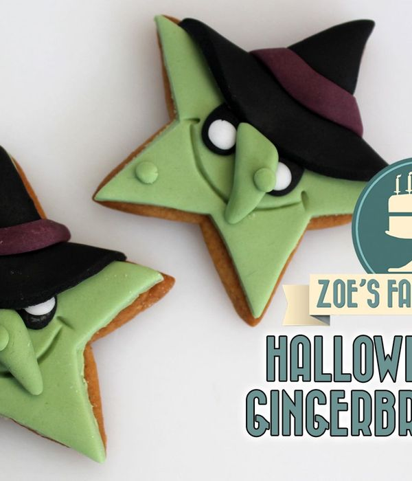Witch Gingerbread Cookies