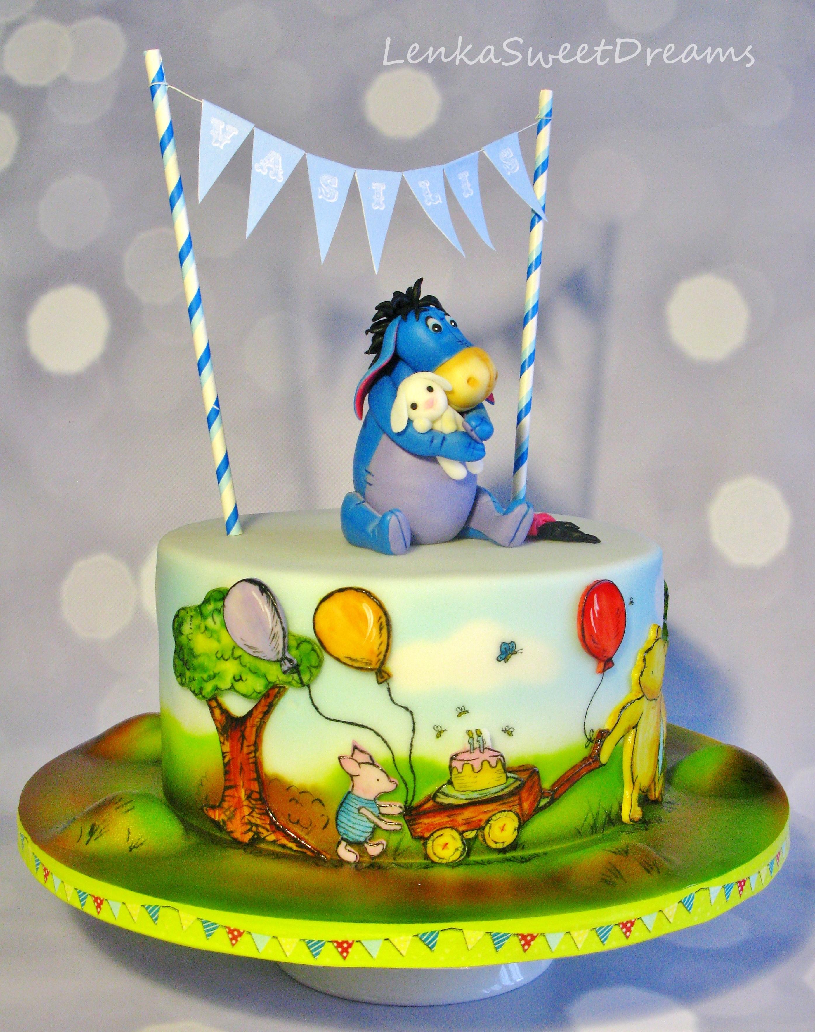Excellent Winnie The Pooh Cake Recipe Funny Birthday Cards Online Alyptdamsfinfo