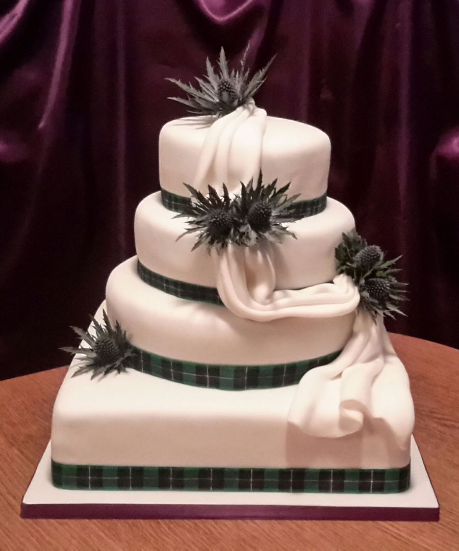 Thistle Wedding Cake Cakecentral Com