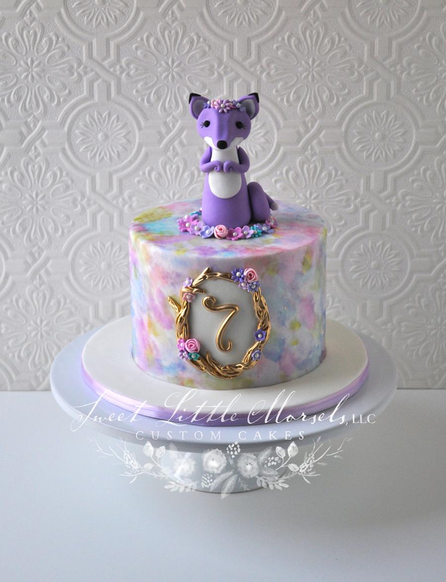 Sweet Little Fox Birthday Cake Cakecentral Com