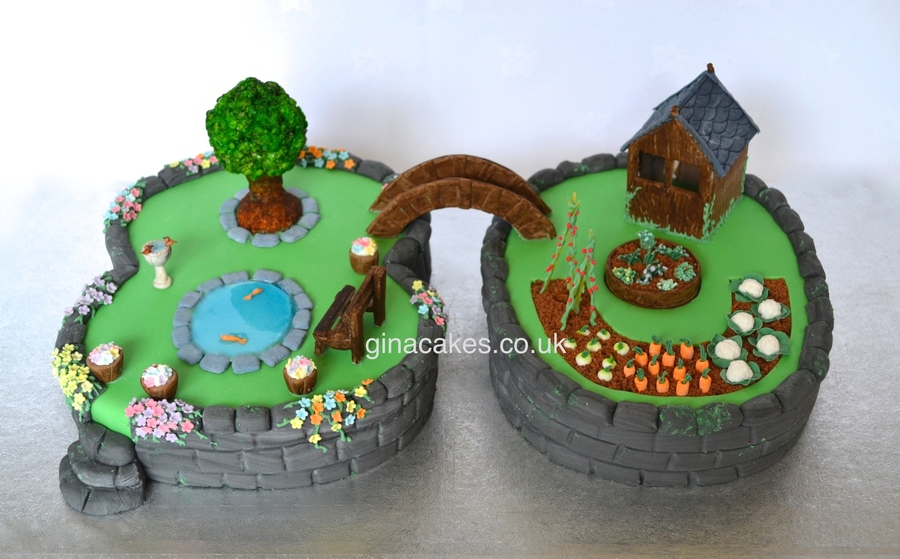80th Birthday Garden Number Cake Cakecentral Com