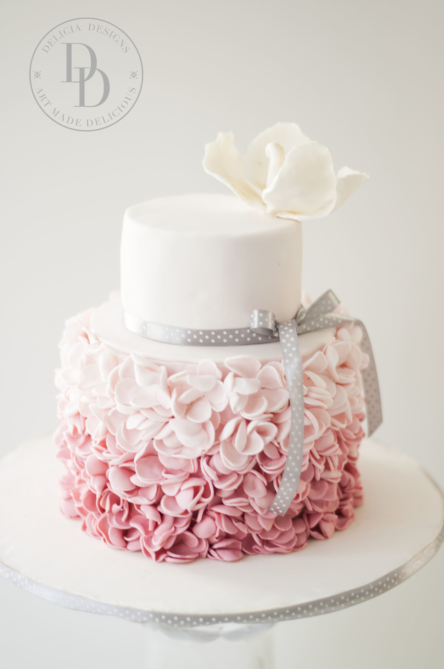 Blush Petal Ruffles on Cake Central
