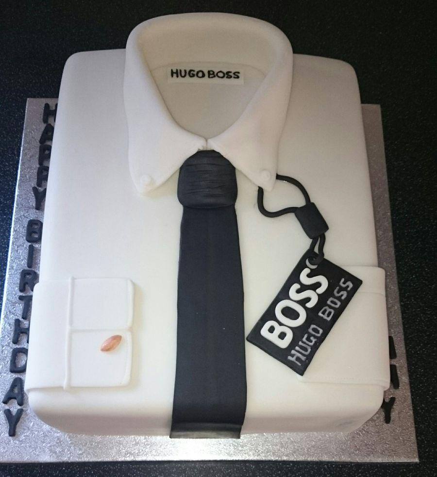 Hugo boss shirt cake for Decoration 50 ans homme