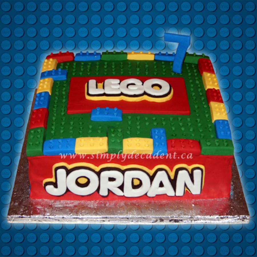 Blocks birthday cake