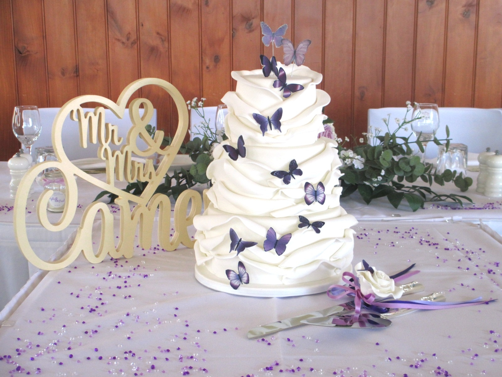 Butterfly Wrap Wedding Cake CakeCentral