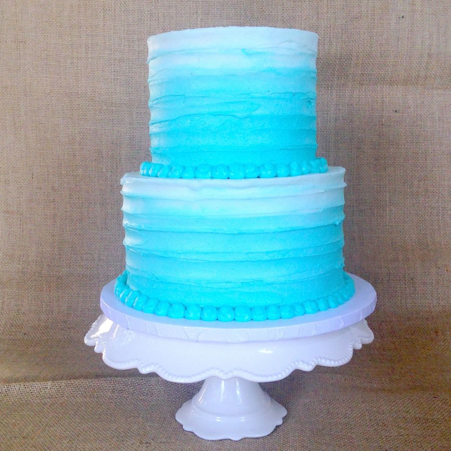Buttercream Ombre Cake on Cake Central