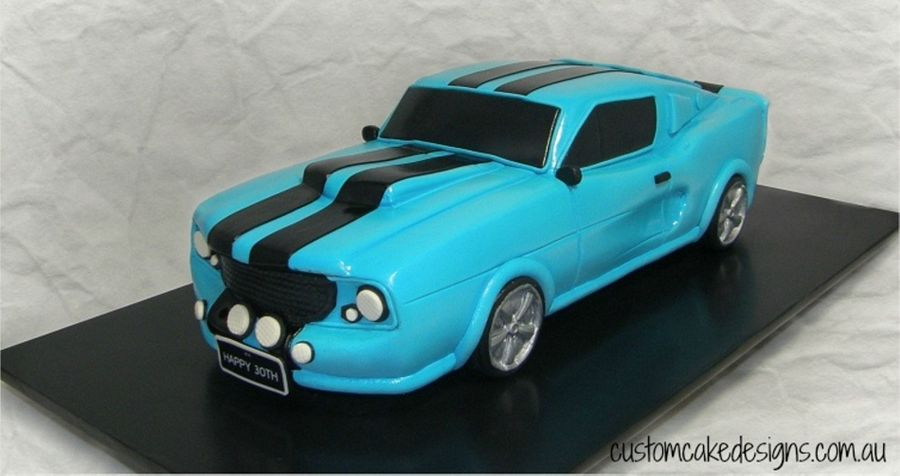 1969 Mustang Gt Car Cake CakeCentralcom