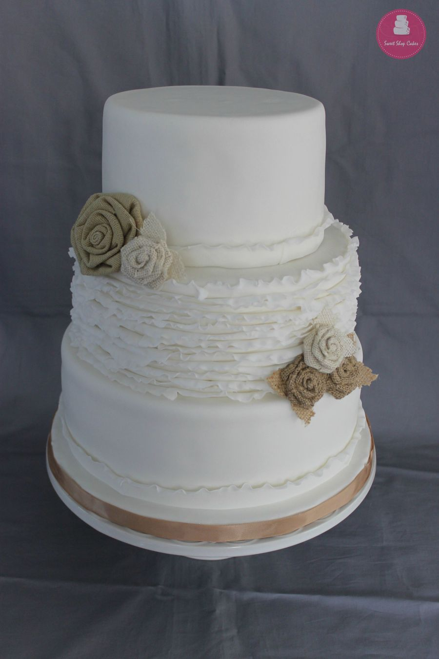 Rustic Wedding Cake And Cupcakes - CakeCentral.com
