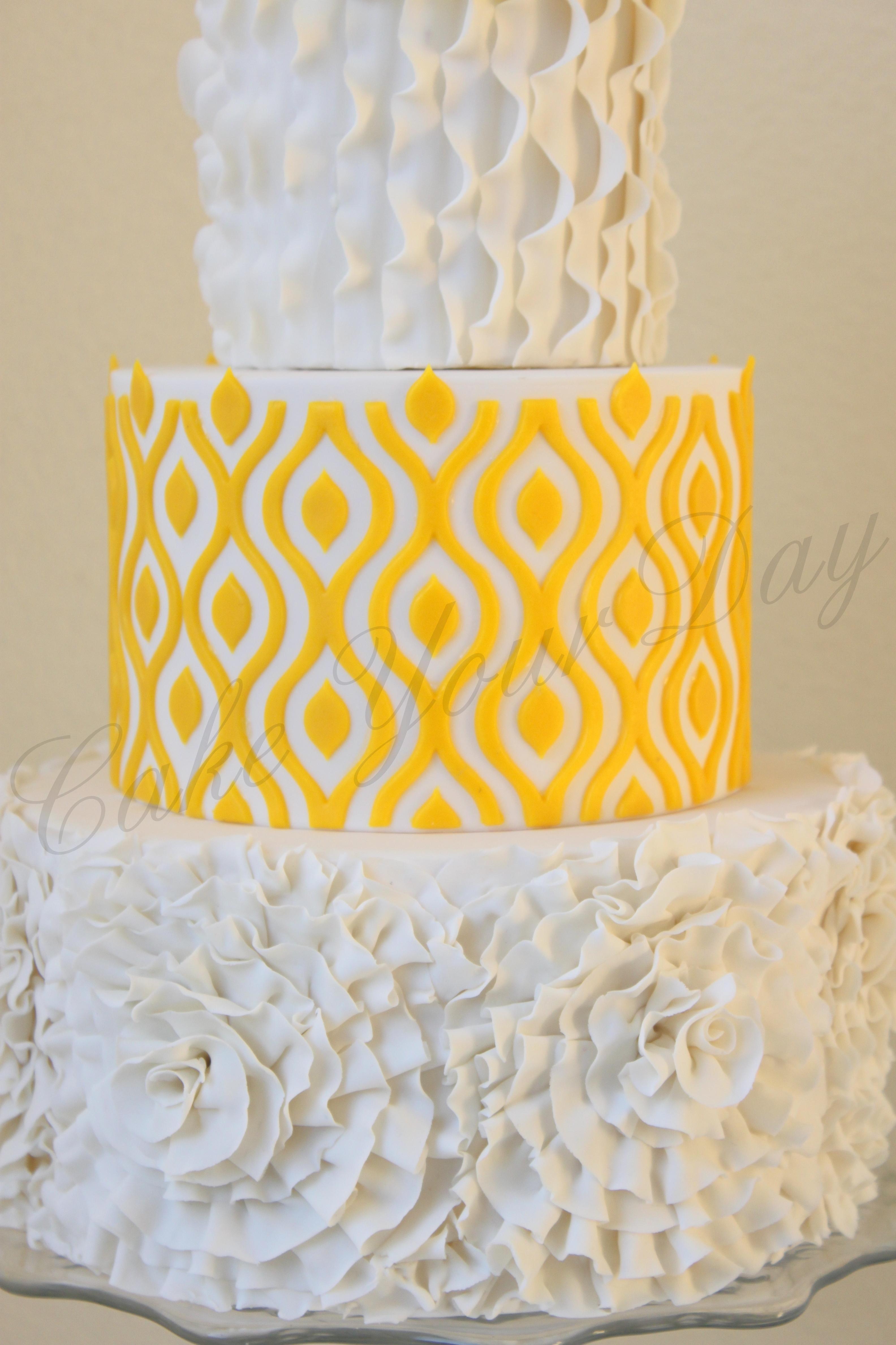 Rosettes Wedding Cake - CakeCentral.com