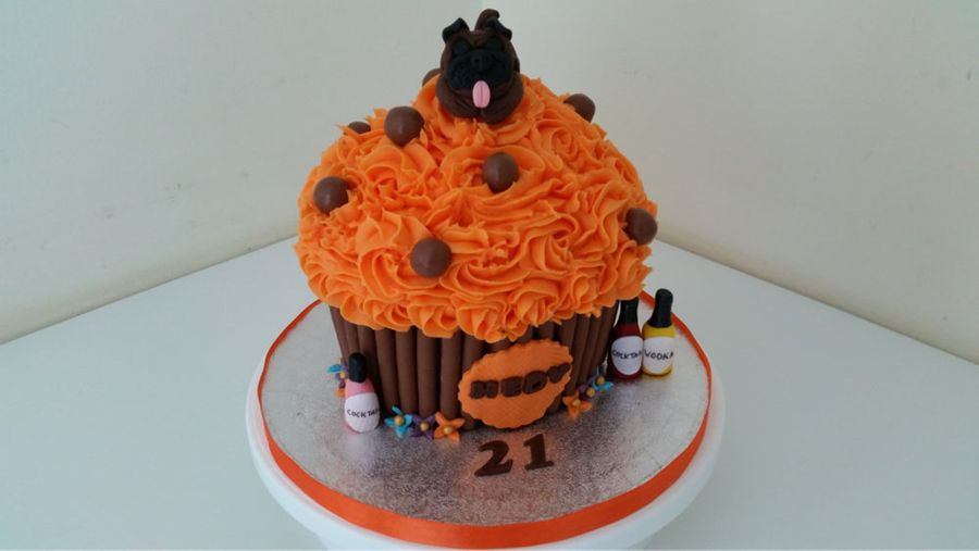 Pug Dog Giant Cupcake on Cake Central