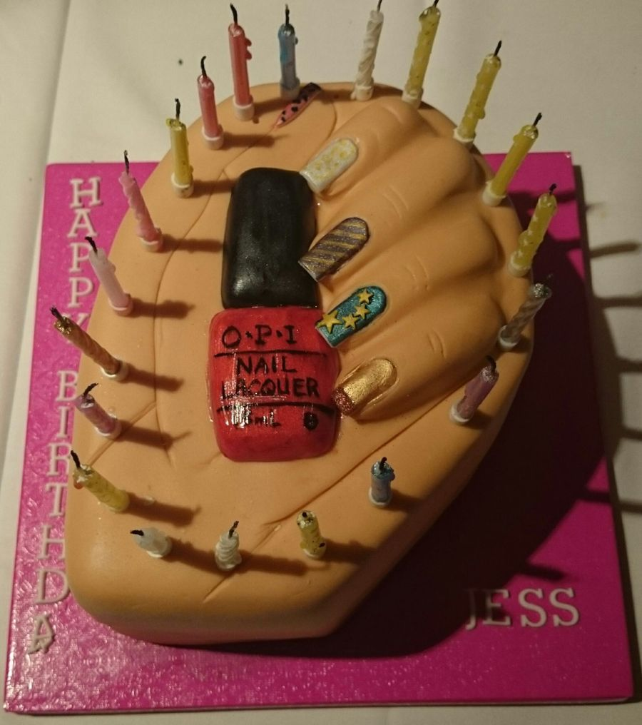 Nail Art Birthday Cake Cakecentral