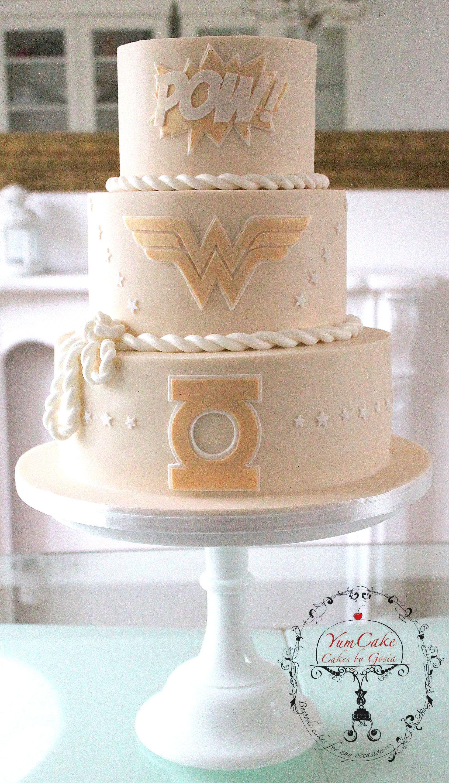 Superhero Wedding Cake - CakeCentral.com