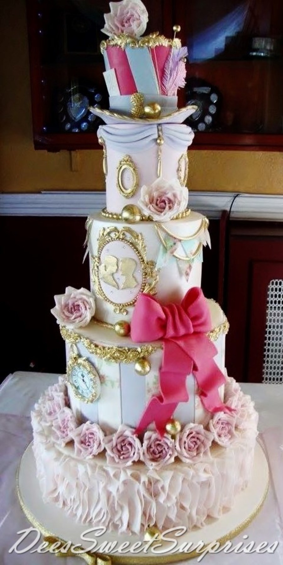 Shabby Chic Bridal Shower Cake