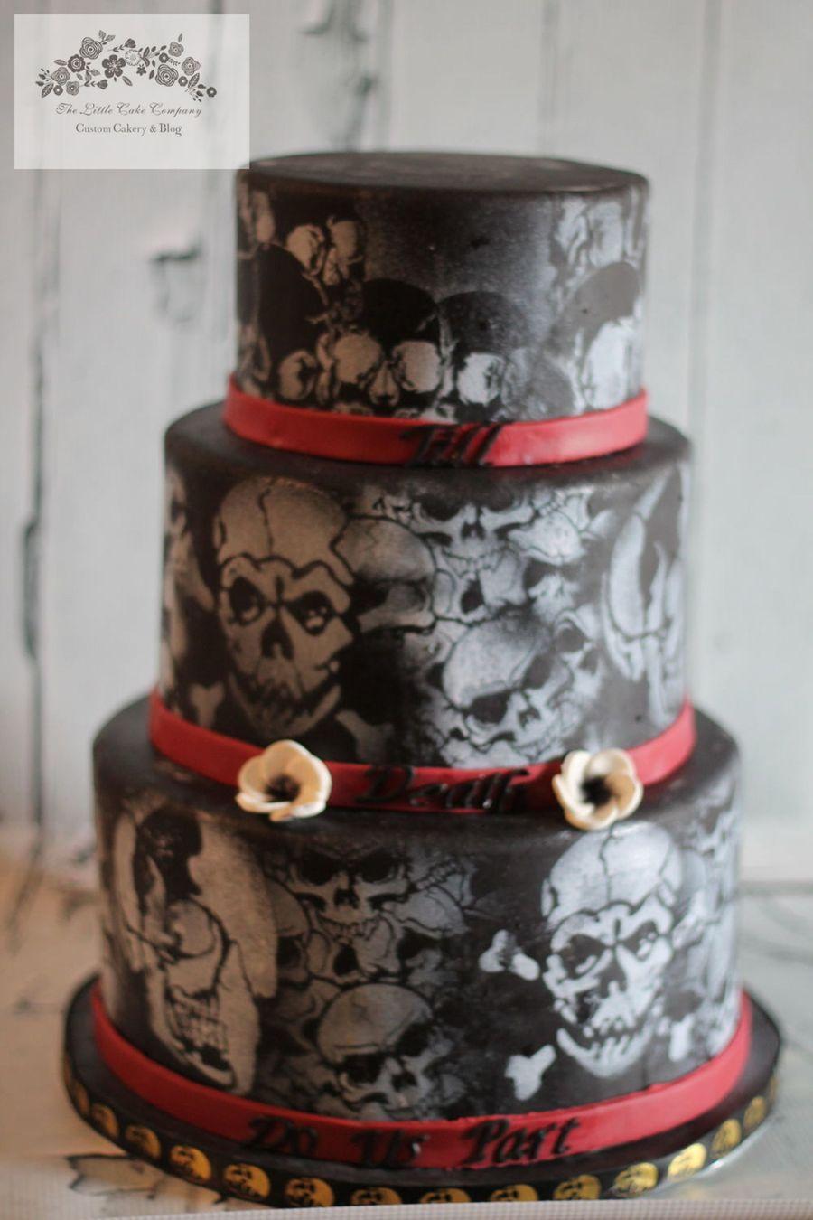 Halloween Skull Wedding Cake Cakecentral Com
