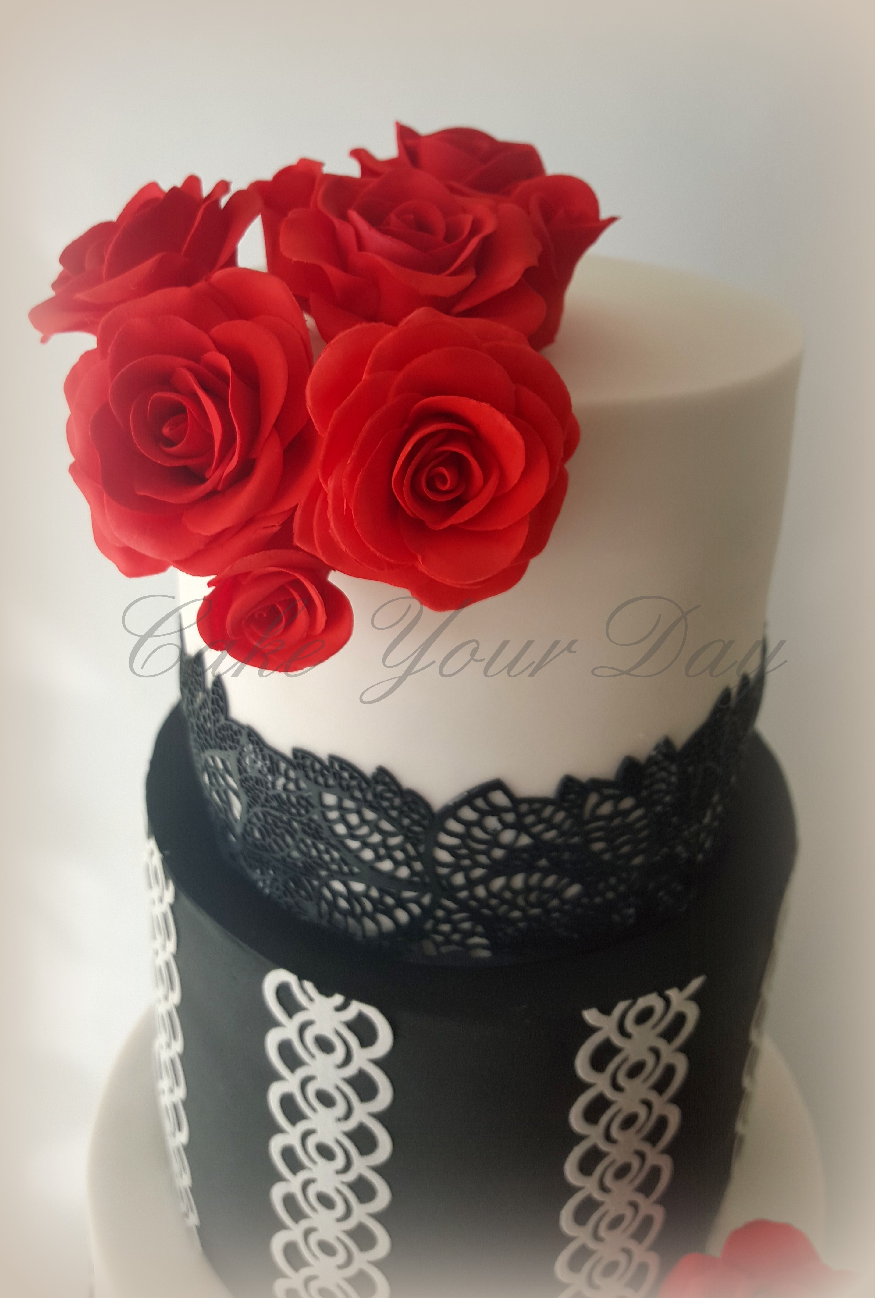 Black And White Wedding Cake CakeCentral