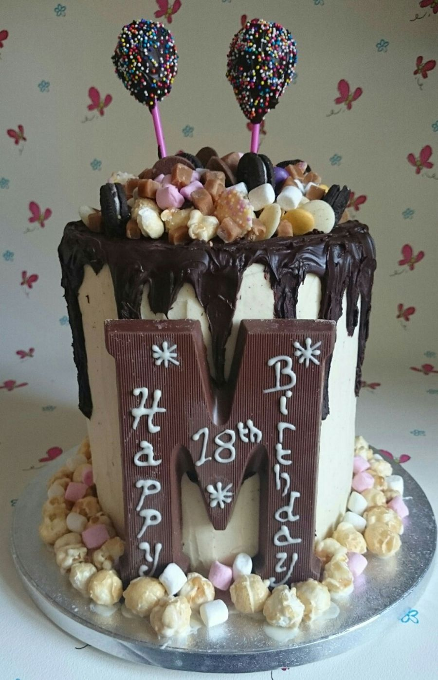 Double Height 18th Birthday Chocolate Cake Cakecentral Com