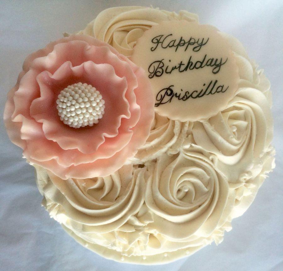 Rosette Birthday Cake Cakecentral
