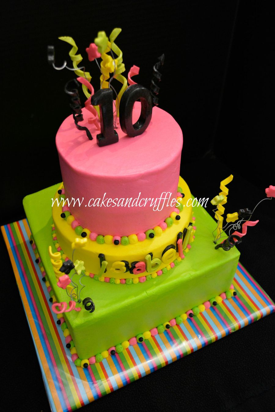 Cake Ideas For Glow In The Dark Party