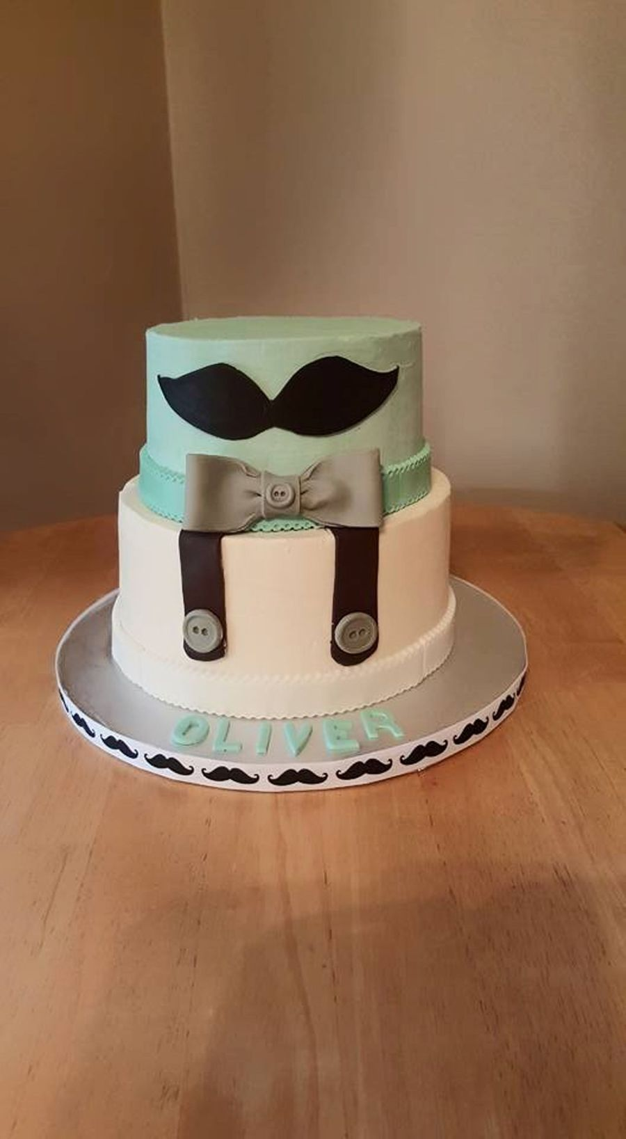 Mustache Baby Shower Cake Cakecentral Com