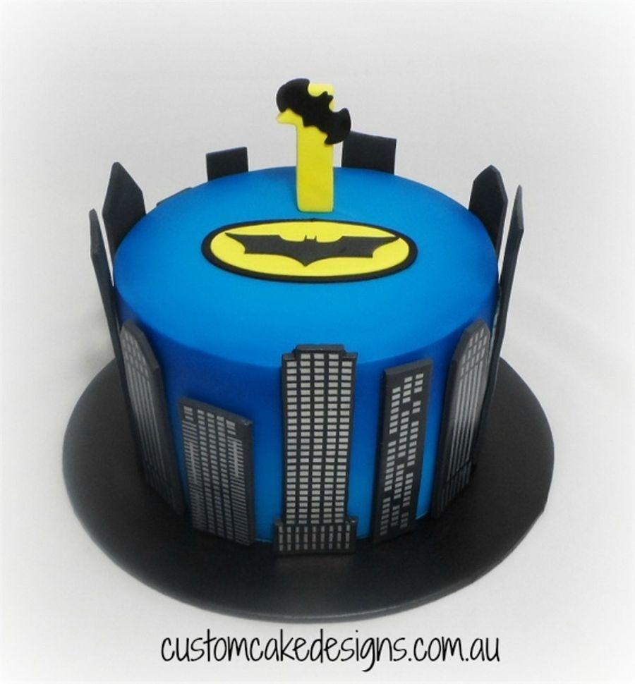 Tremendous Batman 1St Birthday Cake Cakecentral Com Birthday Cards Printable Opercafe Filternl