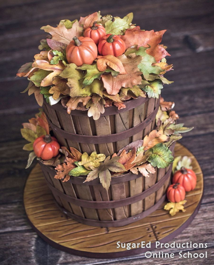 Autumn Basket Cake on Cake Central