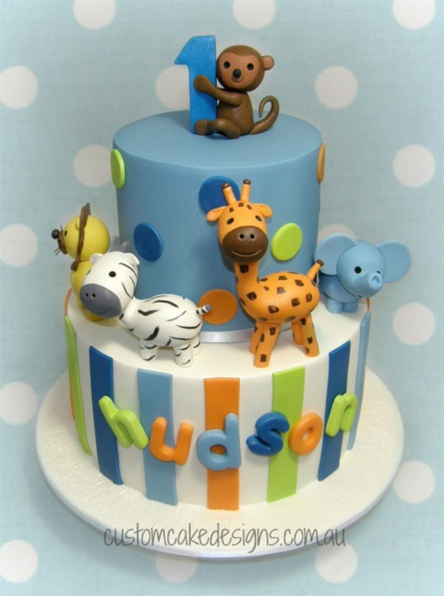 Animal 1st Birthday Cake Cakecentral