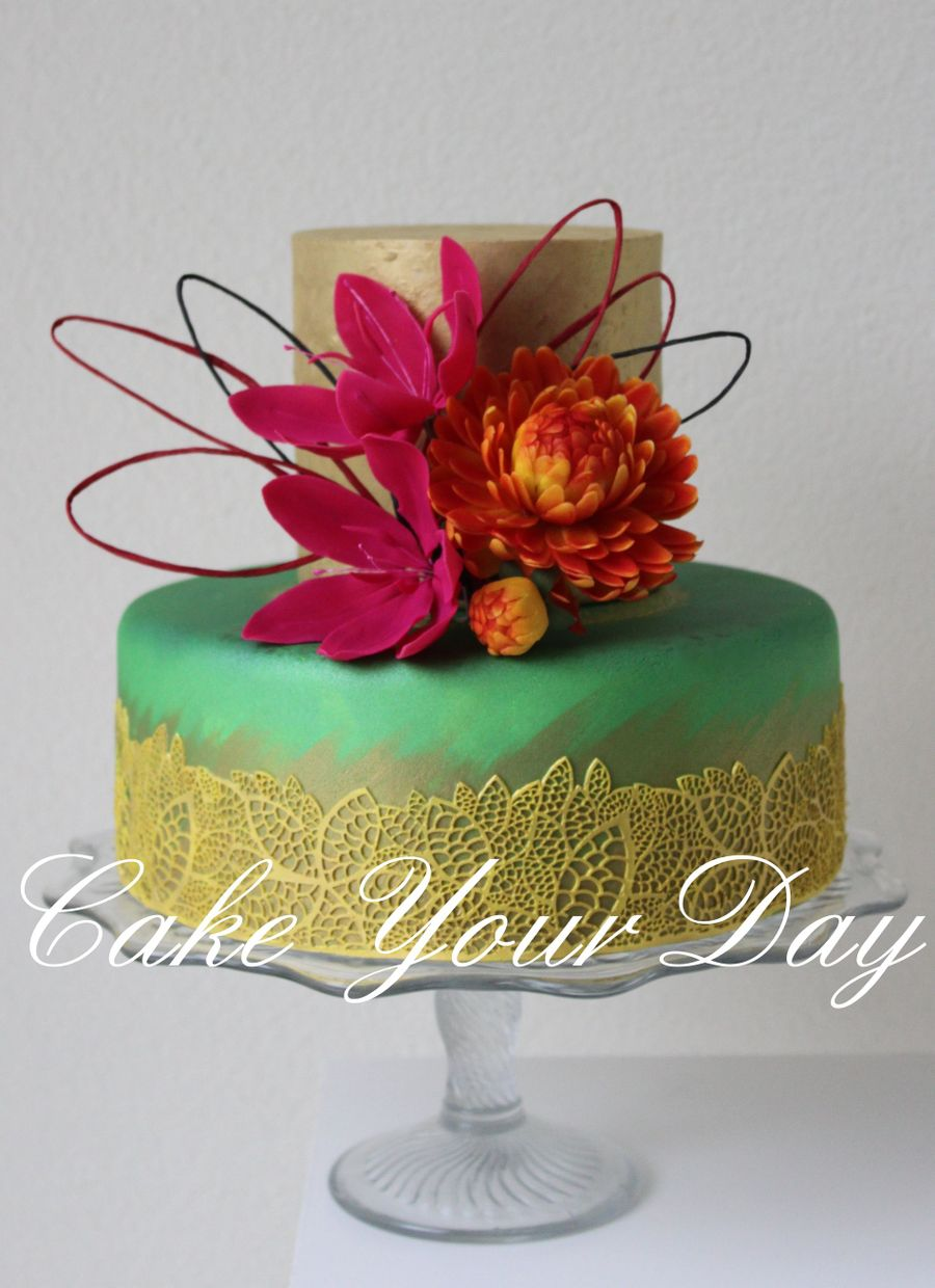 wedding cake fall colors fall colors wedding cake cakecentral 22591