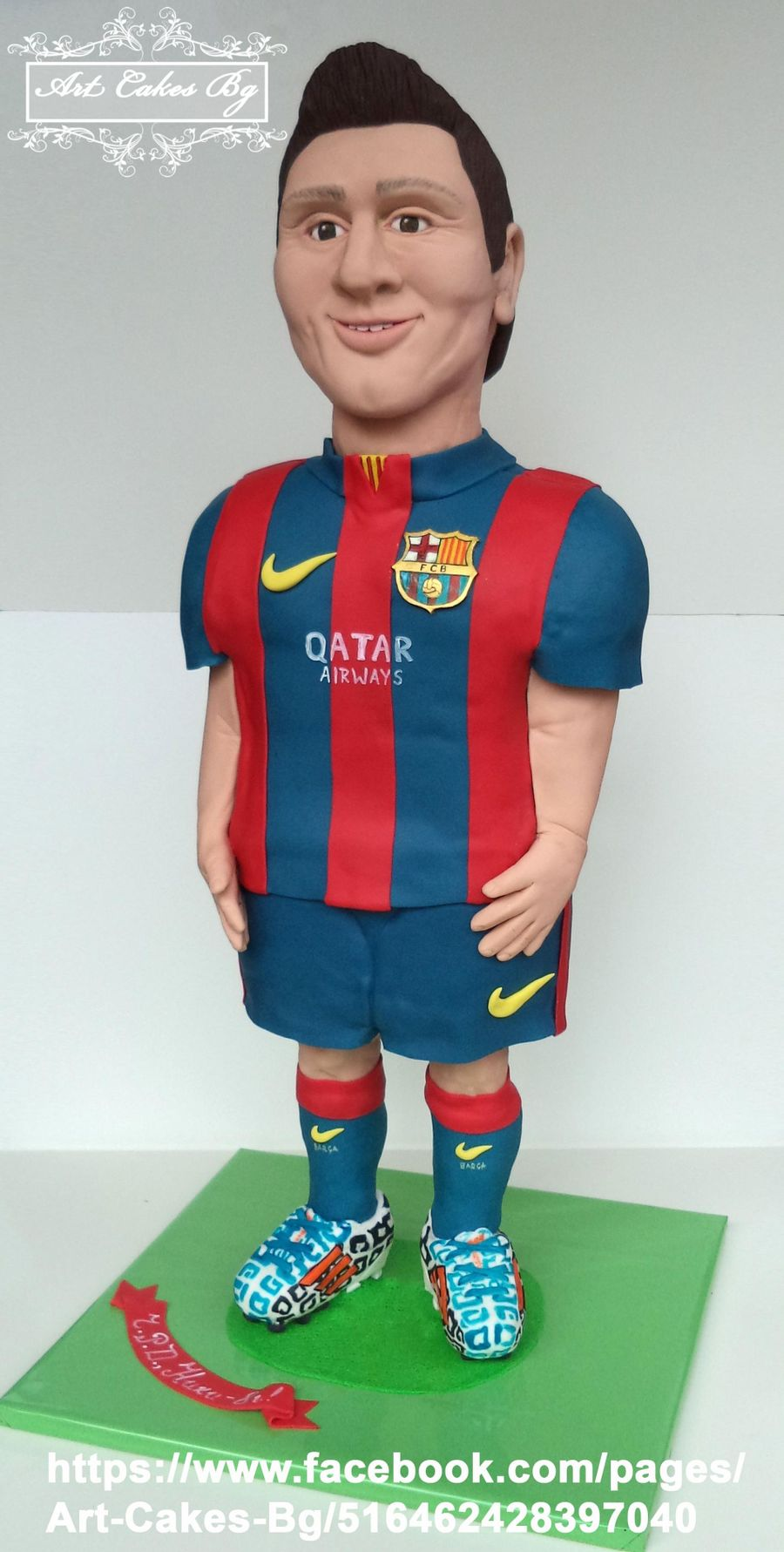 3 D Cake Sculpture Lionel Messi From Fc Barcelona! on Cake Central