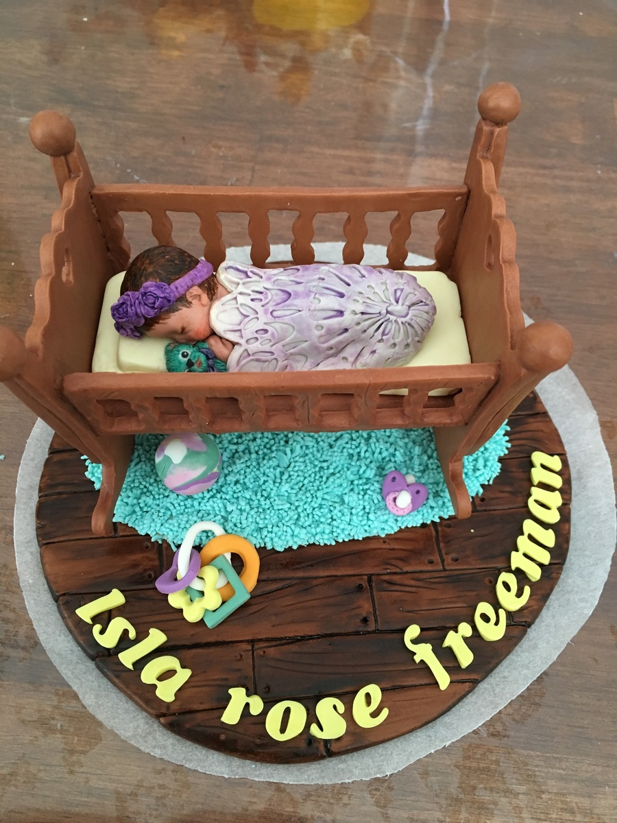 Baby/ Baby Cradle - Cake Topper on Cake Central