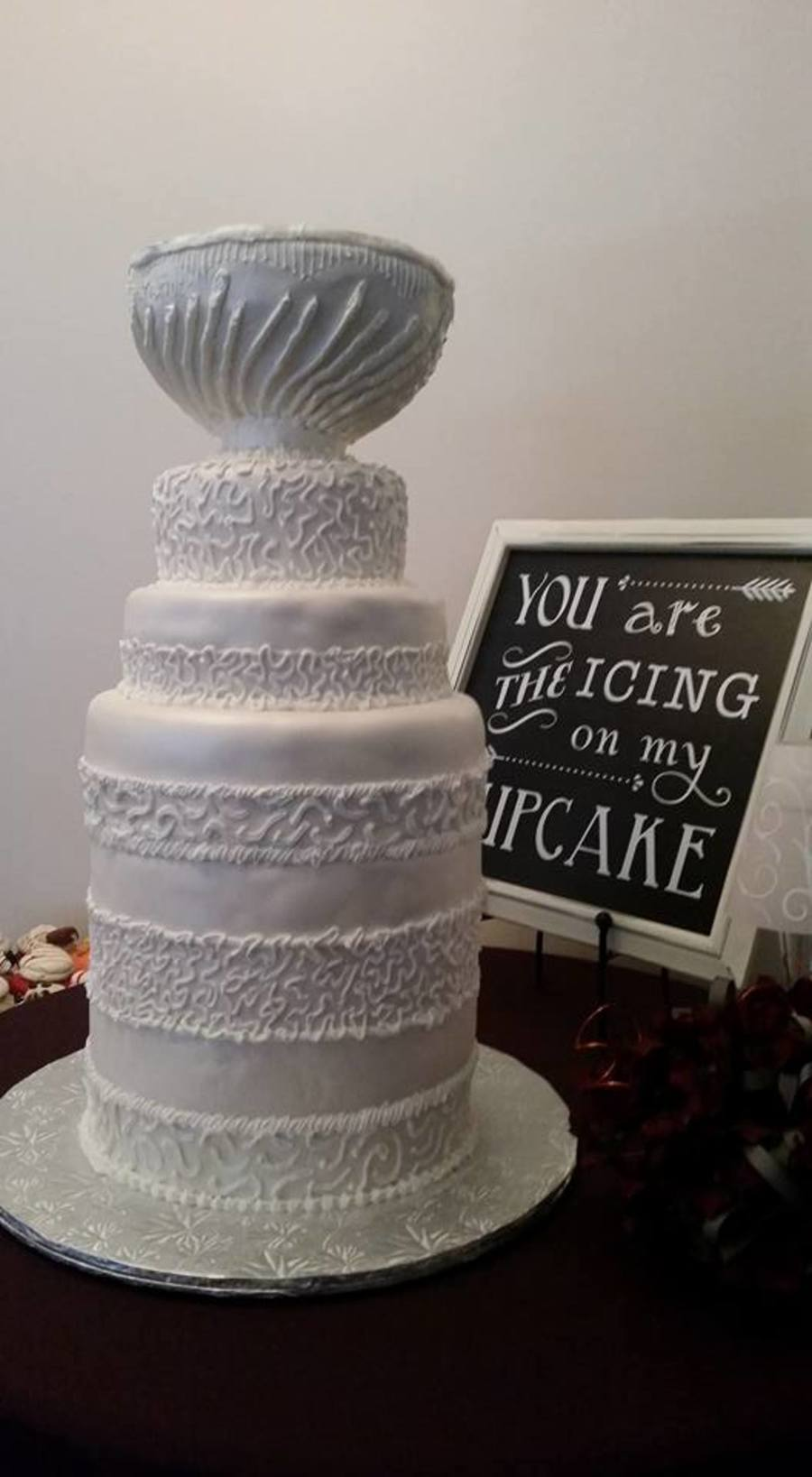 how to make a stanley cup wedding cake stanley cup wedding cake cakecentral 15860