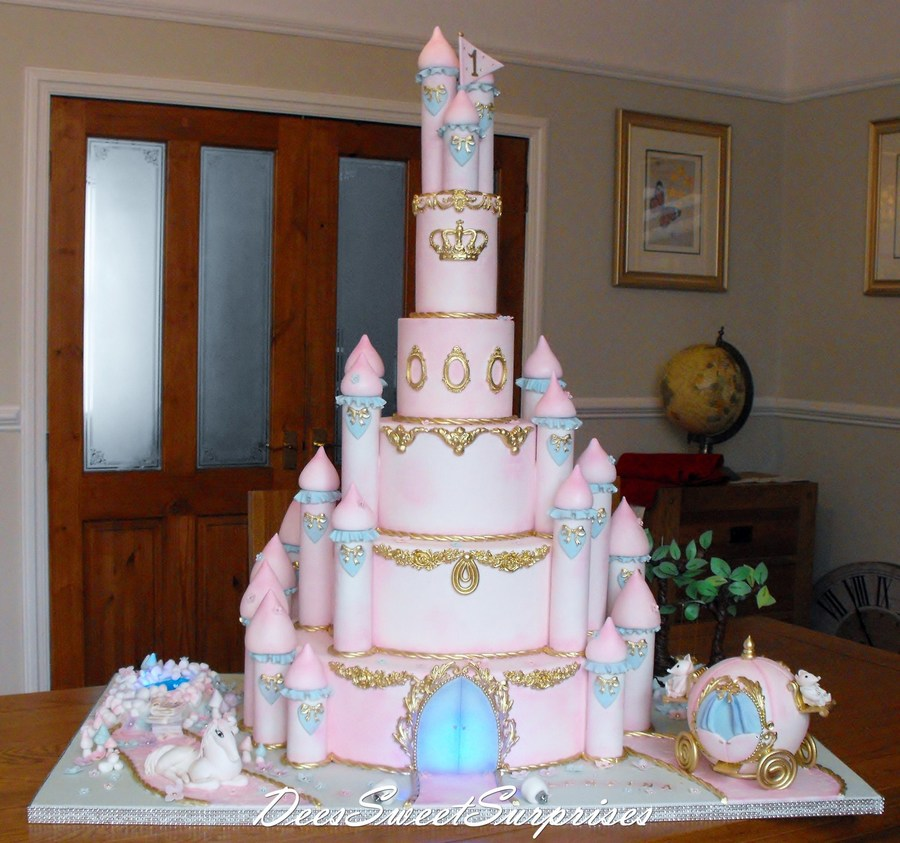Brilliant Princess Castle For A 1St Birthday Cakecentral Com Funny Birthday Cards Online Alyptdamsfinfo
