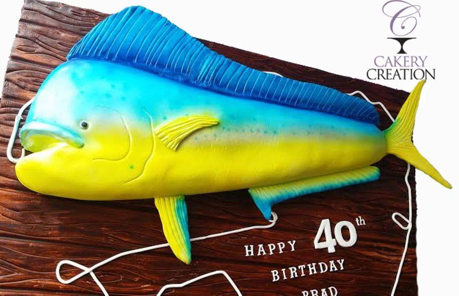 Cake Images With Name Mahi : 3D Mahi Mahi Cake - CakeCentral.com
