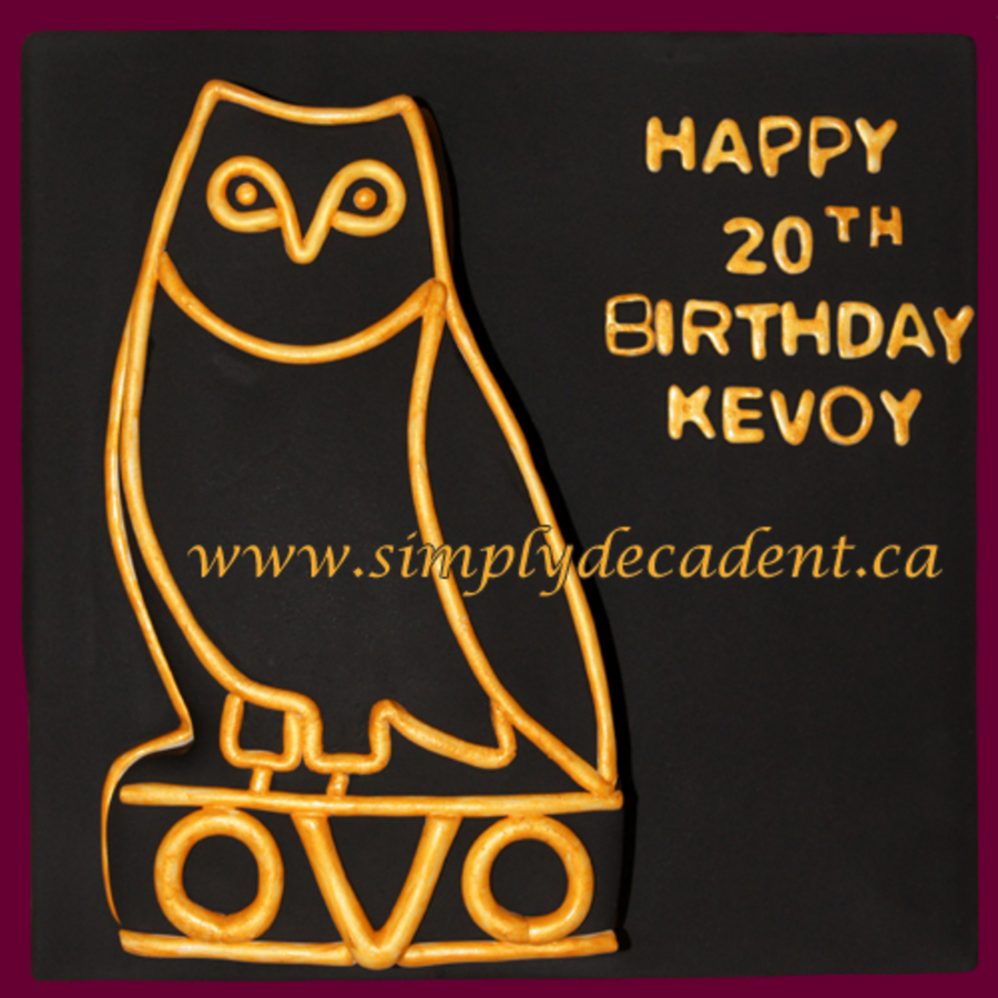 Ovo Octobers Very Own Drake Record Label Owl Birthday Cake