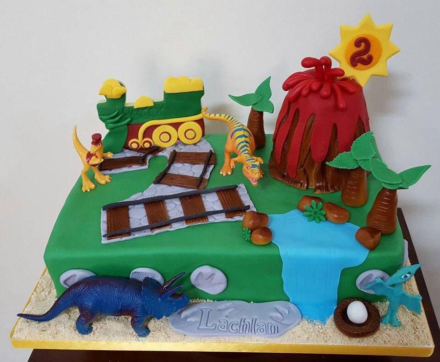 Remarkable 2Nd Birthday Dinosaur Train Cake Cakecentral Com Personalised Birthday Cards Veneteletsinfo