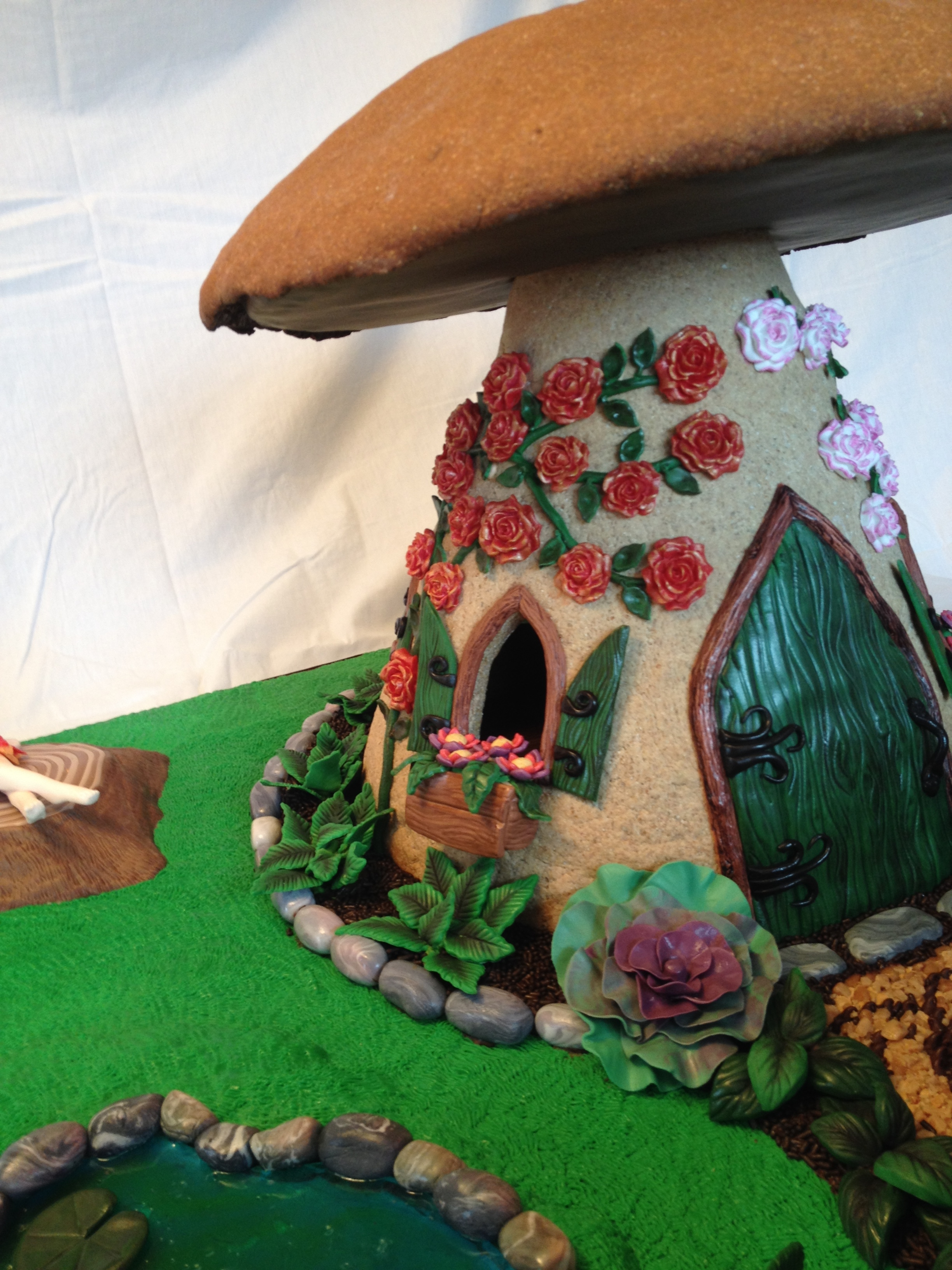 Gingerbread Mushroom Fairy House Cakecentral Com