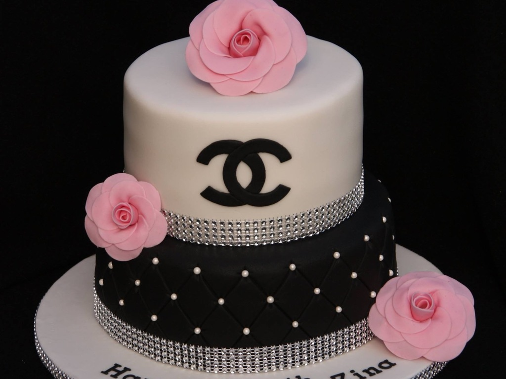 Chanel Bling Cake With Sugar Chanel Camellias CakeCentralcom