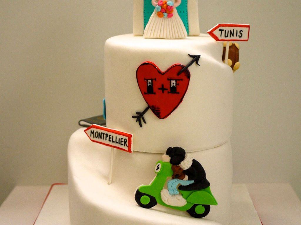 Vespa Wedding Cake CakeCentralcom