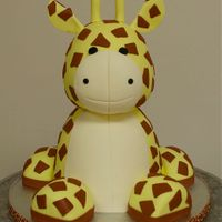 Giraffe First Birthday Cake Giraffe First Birthday Cake. Sculpted cake & fondant.