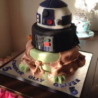 Starwars 3 tired chocolate cake wasnt that happy with this one but everyone else seemed to love it x