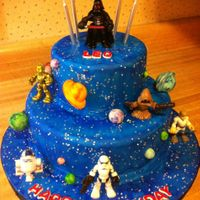 Star Wars Birthday Cake   Star wars Birthday Cake. Figures are toys