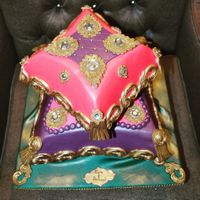 Mahendi Themed Pillow Cake   Mahendi themed pillow cake