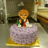 Caricature Personalized Cake I made this cake for my friend , she love fashion, wine, and her dog.