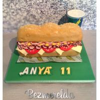 Subway Sandwich Cake   Subway Sandwich cake
