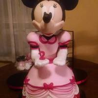 Mile High Minnie This cake was created using McGreevy Cakes's tutorial. She stands two feet tall, and was created for Icing Smiles. The entire skirt is...