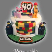 Lego Themed Cake LEGO themed cake with handmade characters