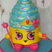 Shopkins Cupcake Queen This Shopkins Theme Cupcake Queen was made for my youngest daughter Gianna's 5th Birthday. The bottom is cake the top 4 inches of the...